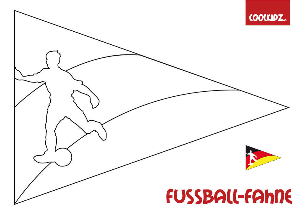 Fußball Fahne Zum Basteln