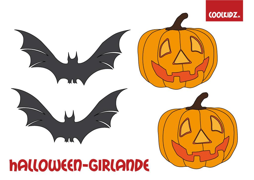 Halloween girlande basteln halloween dekoration halloween - Halloween girlande ...