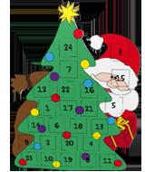 Weihnachtsbaum kalender basteln