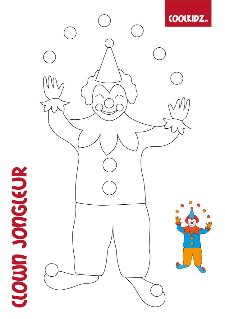 malvorlagen karneval clown  zeichnen und färben