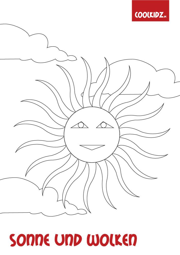 Malvorlage Sonne Malvorlagen Sonne Ausmalbilder Sonne Auf Coolkidz De