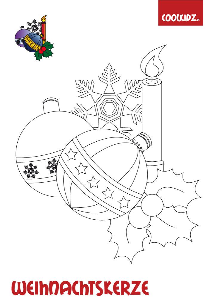Weihnachtskerze Malvorlage Weihnachtskerzen Malen Kerze Malvorlage