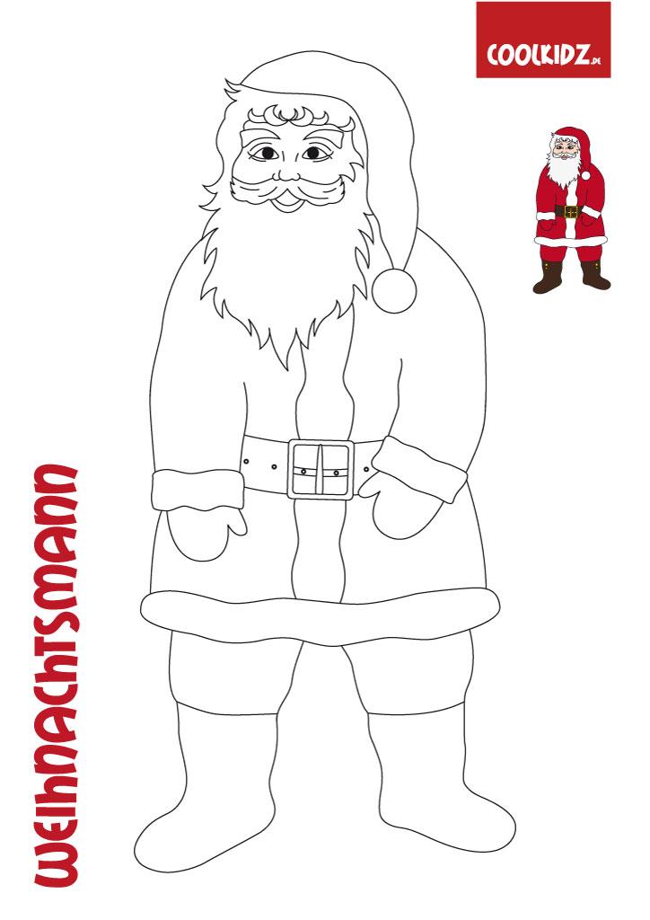 Weihnachtsmann Malvorlagen,Nikolaus Malvorlage,Weihnachts ...